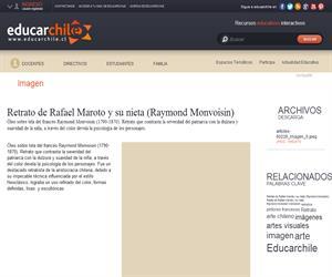 Retrato de Rafael Maroto y su nieta (Raymond Monvoisin) (Educarchile)