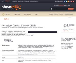 José Miguel Carrera: El sitio de Chillán (Educarchile)