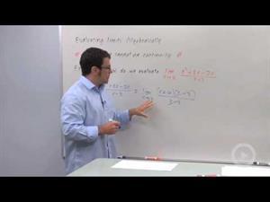 Evaluating Limits Algebraically