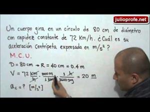Problema 1 sobre Movimiento Circular Uniforme (JulioProfe)