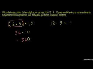 Ley asociativa de la multiplicación (Khan Academy Español)