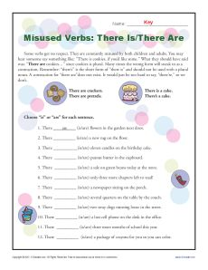 Misused Verbs – There is, are