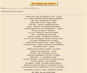 115ª Ficha de ortografía de Don Quijote de la Mancha