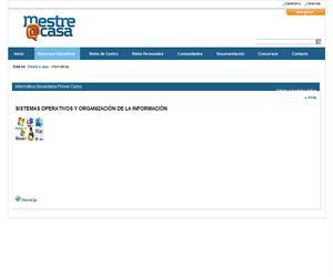 Sistemas operativos y organización de la información  (Mestre a Casa)