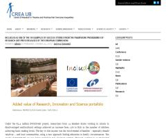 Includ-Ed as one of the ten examples of success stories from the Framework programme of Research | CREA UB