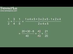 Suma y resta rápida de fracciones (Tareas Plus)