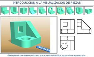 Introducción a la visualización de piezas. Ejemplo 7. Dibujo Técnico