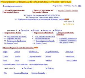 Estudiaroposiciones.com: todas las programaciones didácticas para ESO y Bachiller