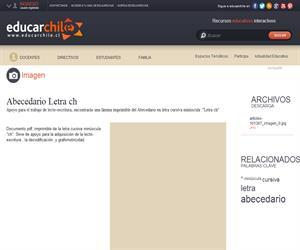 Abecedario Letra ch (Educarchile)