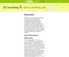 Education - Creative Commons
