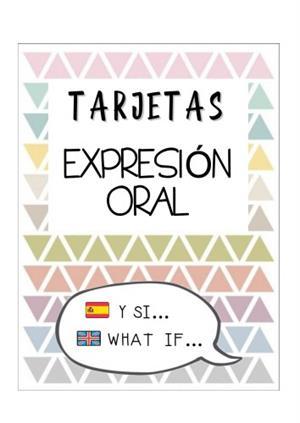 Tarjetas para trabajar la expresión oral y escrita CAS/ING