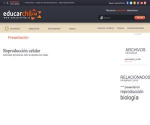 Reproducción celular (Educarchile)