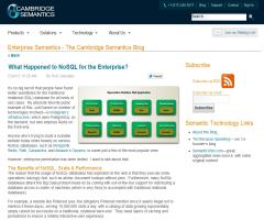 What Happened to NoSQL for the Enterprise?