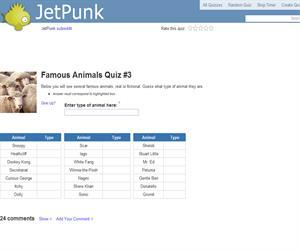 Famous Animals Quiz 3