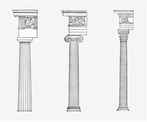 Dórico, jónico y corintio, los tres órdenes griegos (National Geographic)