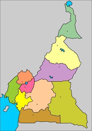 Mapa interactivo de Camerún: regiones y capitales (luventicus.org)