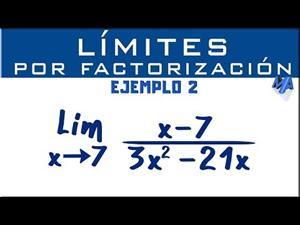Solución de límites por factorización | Ejemplo 2