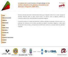 La mejora de la convivencia y el aprendizaje en los centros educativos de Primaria y Secundaria con alumnado inmigrante (2009-2011)