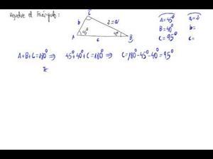 Resolución de un triángulo cualquiera