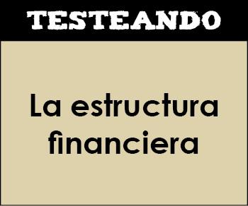 La estructura financiera. 2º Bachillerato - Economía de la empresa (Testeando)
