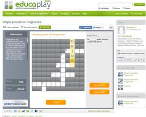 Juega y practica: Simple present Vs Progressive (educaplay.com)