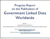 Progress Report on Government Linked Data Worldwide