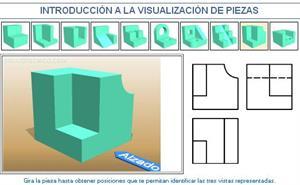 Introducción a la visualización de piezas. Ejemplo 9. Dibujo Técnico