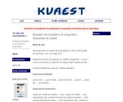 Buscador enciclopédico en preguntas y respuestas de Kuaest