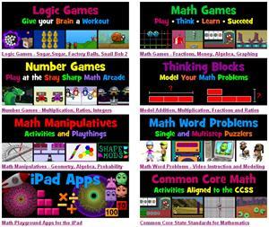 mathplayground.com: matemáticas (en inglés) para educación infantil y primaria