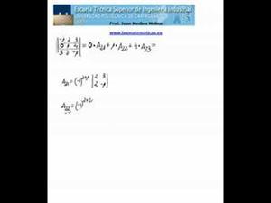 Cálculo de un determinante de orden 3 por una fila