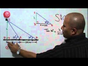 Problema trigonométrico con triángulos rectángulos (JulioProfe)