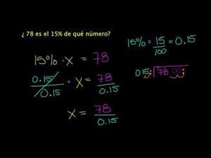 Resolución De Problemas De Porcentaje - Parte 3 (Khan Academy Español)