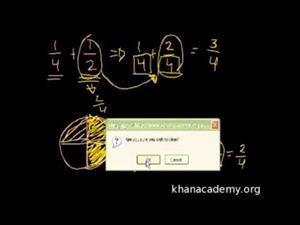 Suma y Resta de Fracciones (Khan Academy Español)