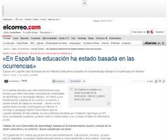 «En España la educación ha estado basada en las ocurrencias» - El Correo