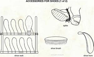 Accessories for shoes  (Visual Dictionary)