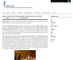 Marshall Ganz, professor of Harvard Kennedy School, in Dialogic Politic Conference | CREA UB
