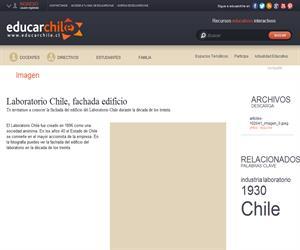 Laboratorio Chile, fachada edificio (Educarchile)
