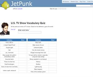 U.S. TV Show Vocabulary Quiz