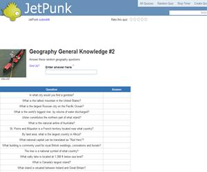 Geography General Knowledge 2