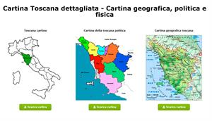 Cartina Toscana dettagliata - Cartina geografica, politica e fisica