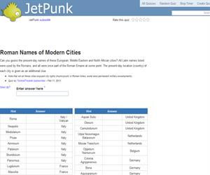 Roman Names of Modern Cities