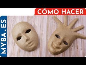 Cómo hacer y decorar Máscaras de Carnaval DIY. Máscaras venecianas de papel maché
