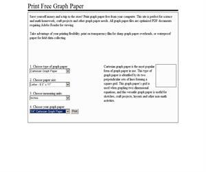 Print Free Graph Paper  te facilita la representación gráfica de logaritmos, planos cartesianos, etc