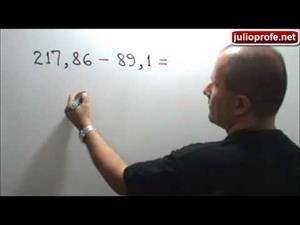 Suma y resta de números decimales (JulioProfe)