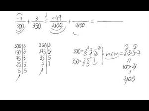 Suma de números racionales
