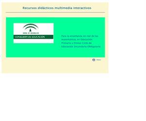 Creación de recursos didácticos interactivos multimedia, para la enseñanza en red de las matemáticas de E. Primaria y 1er. Ciclo de E.S.O.