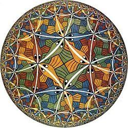 Teselaciones de M.C. Escher, división regular del plano
