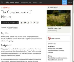 La consciencia de la naturaleza. The Consciousness of Nature (Global Oneness Project)