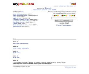 myjmk: diccionario online alemán/español (gratuito)