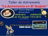 Taller de astronomía en El Quijote